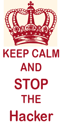 Kepp Calm and stop the Hacker