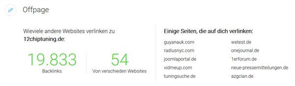 WebSite Offpage SEO Optimierung